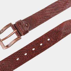 Кожаный светло-коричневый женский джинсовый ремень ATS-810 217112