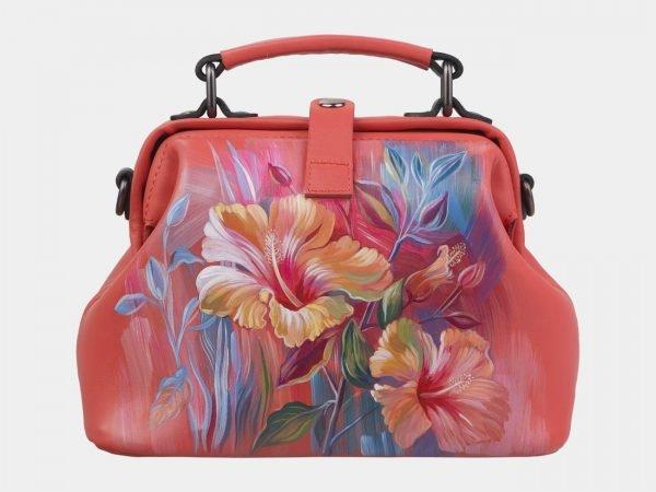 Функциональная розово-оранжевая сумка с росписью ATS-2928