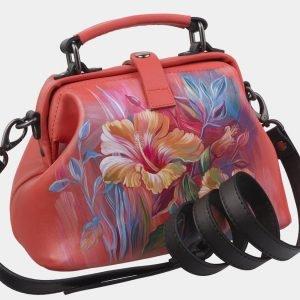 Функциональная розово-оранжевая сумка с росписью ATS-2928 213922