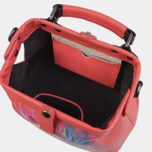 Функциональная розово-оранжевая сумка с росписью ATS-2928 213924