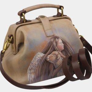 Модная бежевая сумка с росписью ATS-2927 213927