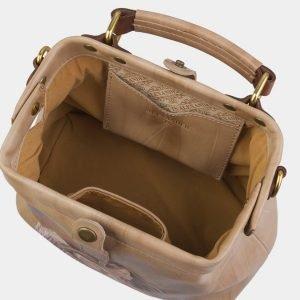 Модная бежевая сумка с росписью ATS-2927 213929