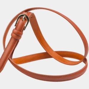 Удобный оранжевый женский модельный ремень ATS-2893
