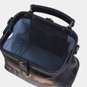Уникальная черная сумка с росписью ATS-2267 215551