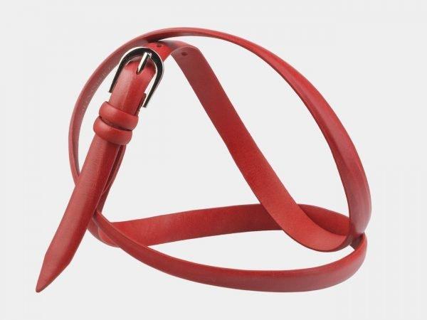 Удобный красный женский модельный ремень ATS-2901