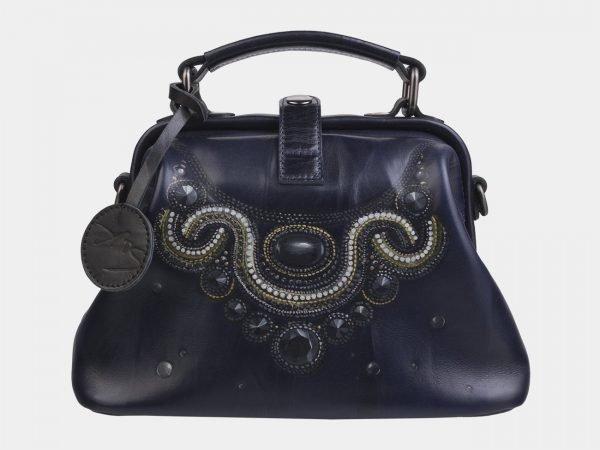 Уникальная синяя сумка с росписью ATS-2281