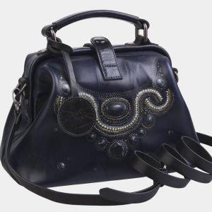 Уникальная синяя сумка с росписью ATS-2281 215526
