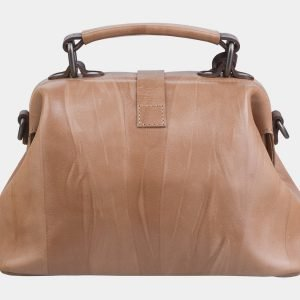 Уникальная бежевая сумка с росписью ATS-2282 215522