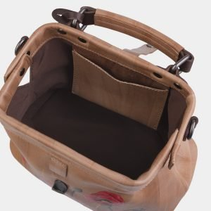 Уникальная бежевая сумка с росписью ATS-2282 215523