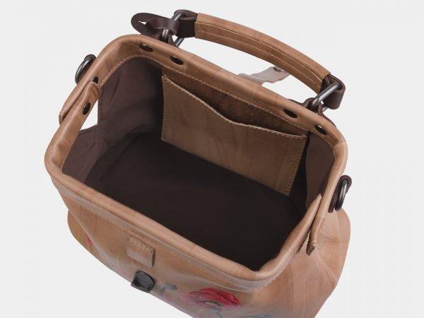 Солидная бежевая сумка с росписью ATS-2282