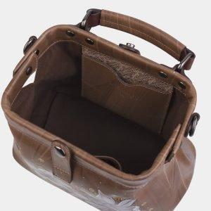 Деловая бежевая сумка с росписью ATS-2283 215518