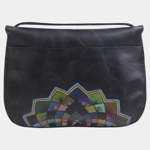 Неповторимый черный клатч с росписью ATS-2276 215537