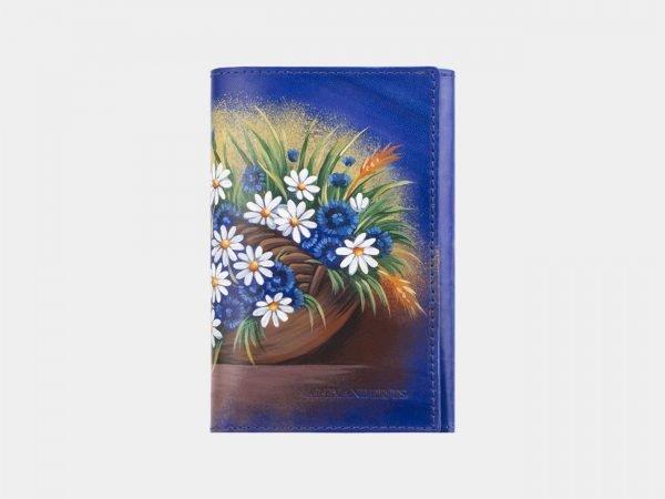 Удобный голубовато-синий аксессуар с росписью ATS-2929