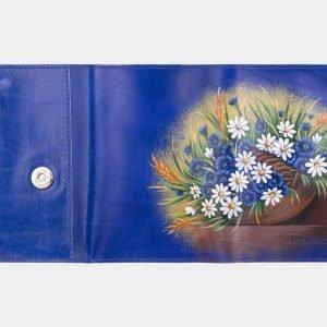 Удобный голубовато-синий аксессуар с росписью ATS-2929 213918