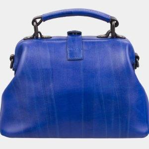 Удобная голубовато-синяя сумка с росписью ATS-2930 213914