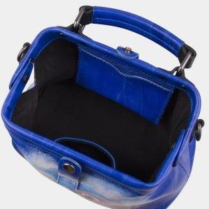 Удобная голубовато-синяя сумка с росписью ATS-2930 213915