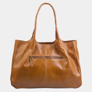 Кожаная оранжевая сумка с росписью ATS-2286
