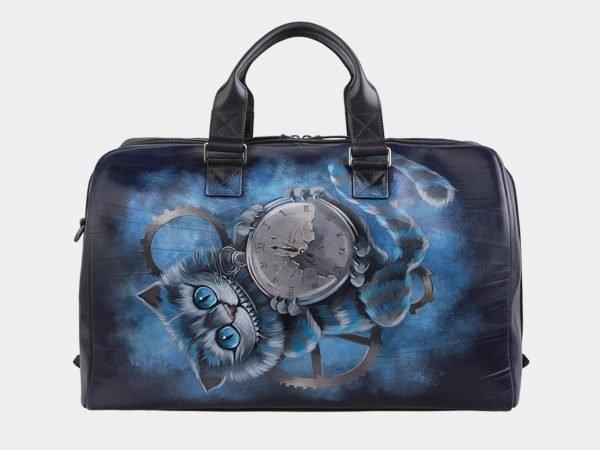 Солидная синяя сумка с росписью ATS-2931