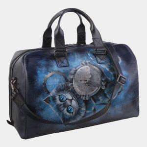 Солидная синяя сумка с росписью ATS-2931 213908