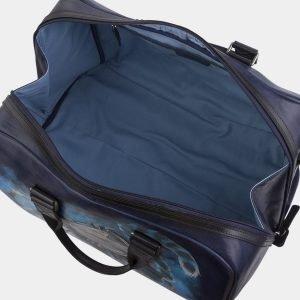 Солидная синяя сумка с росписью ATS-2931 213910