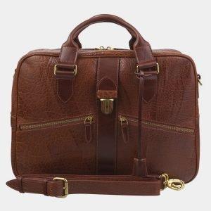 Вместительный светло-коричневый мужской портфель ATS-2915
