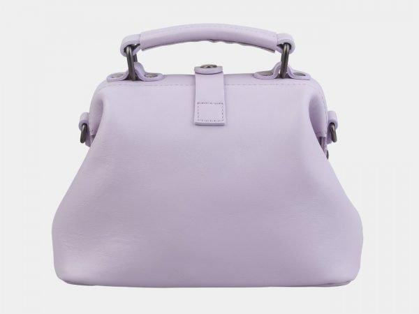 Стильная лиловая сумка с росписью ATS-2937