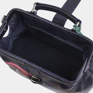 Солидная синяя сумка с росписью ATS-2940 213866
