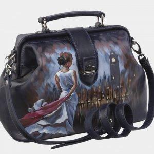 Уникальная синяя сумка с росписью ATS-2941 213859
