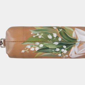 Модный бежевый аксессуар с росписью ATS-2944