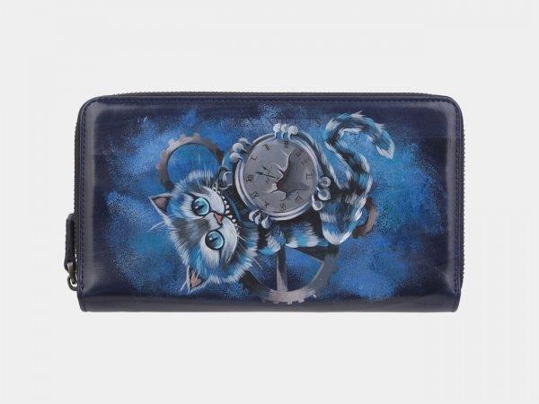 Солидный синий портмоне с росписью ATS-2946