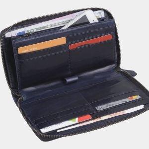 Солидный синий портмоне с росписью ATS-2946 213843