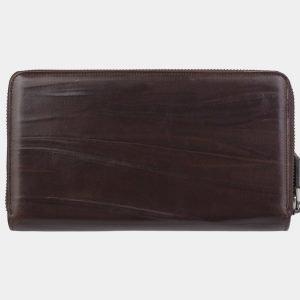 Неповторимый коричневый портмоне с росписью ATS-2947