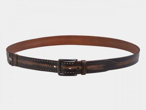 Стильный коричневый мужской джинсовый ремень ATS-2920