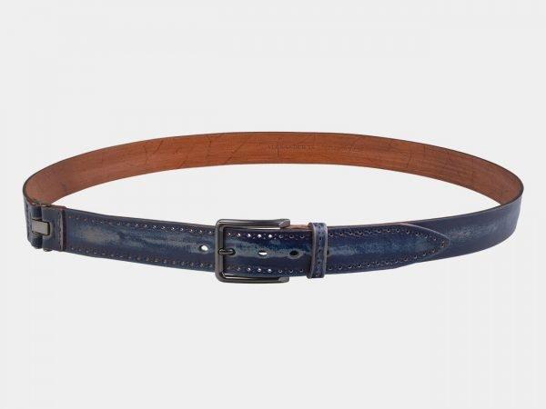 Уникальный синий мужской джинсовый ремень ATS-2921