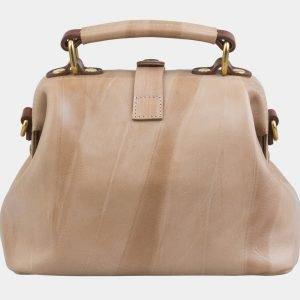 Деловая бежевая сумка с росписью ATS-2969 213780
