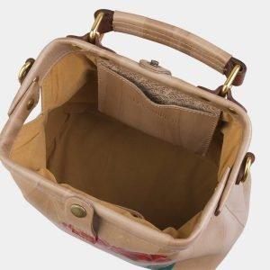 Деловая бежевая сумка с росписью ATS-2969 213781