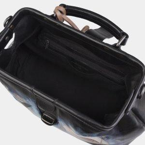 Модная черная сумка с росписью ATS-2967 213791