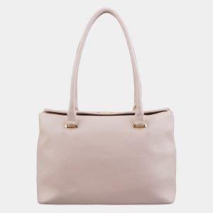 Деловая бледно-розовая сумка с росписью ATS-2966