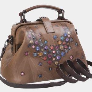 Модная бежевая сумка с росписью ATS-2314 215496