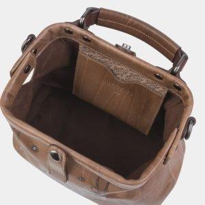 Модная бежевая сумка с росписью ATS-2314 215498
