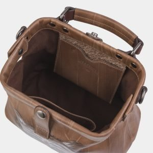 Функциональная бежевая сумка с росписью ATS-2317 215493