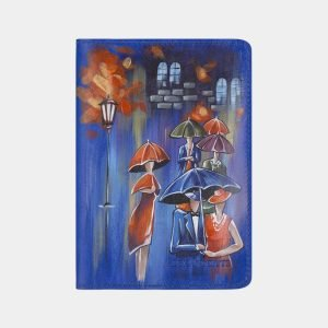 Уникальный голубовато-синий аксессуар с росписью ATS-2340