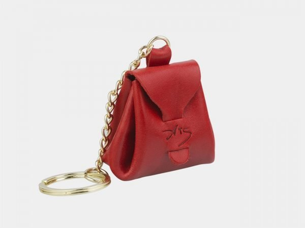Кожаный красный брелок ATS-2958