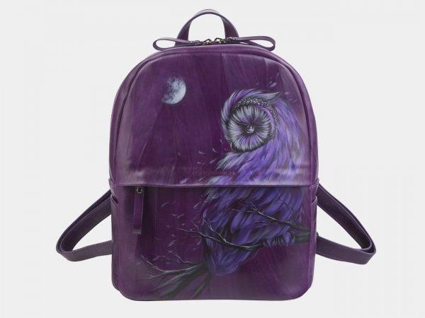 Функциональный фиолетовый рюкзак с росписью ATS-2324