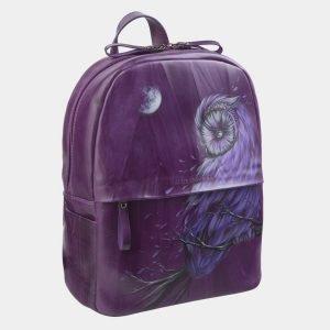 Функциональный фиолетовый рюкзак с росписью ATS-2324 215469
