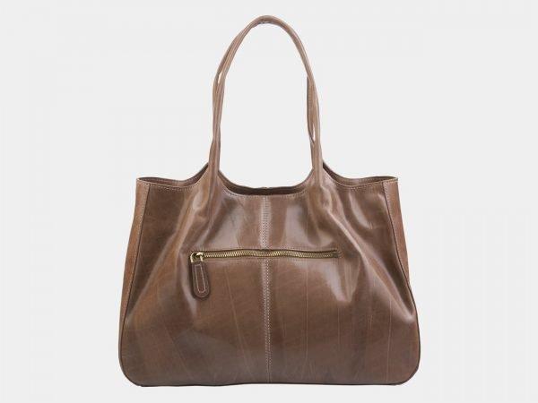 Солидная бежевая сумка с росписью ATS-2318