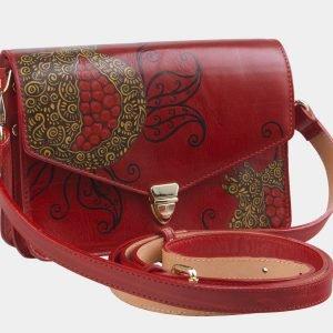 Деловой красный клатч с росписью ATS-2332 215454