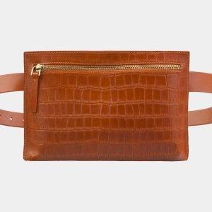 Вместительная оранжевая женская сумка на пояс ATS-2960
