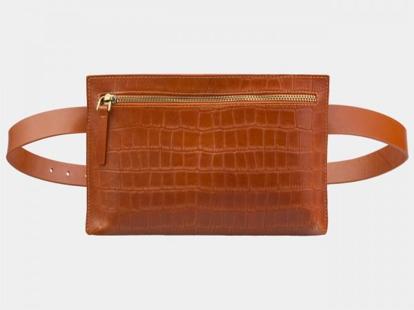 Удобная оранжевая женская сумка на пояс ATS-2960