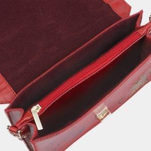 Деловой красный клатч с росписью ATS-2332 215456